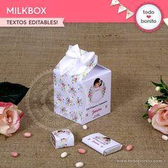 Caja Milbox de Primera Comunión para niñas estilo rústico