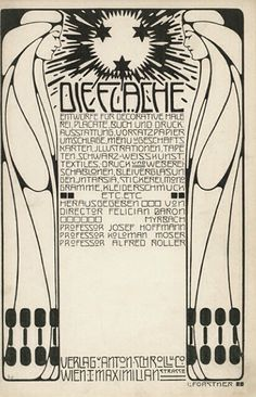 Die Fläche (The Surface) cover, 1902. A Viennese graphic arts periodical published in two volumes, it featured the work of artists associated with the Wiener Werkstätte. High-pressure woodblock print
