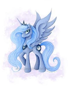 My Little Pony Art Princess Luna Painting MLP by ForeverFairy, $8.00