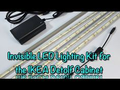 This video details how to install my latest custom LED lighting kit, the Invisible LED light kit MkIII. The kit is made to fit and is shown being installed i. Ikea Detolf, Led Light Kits, Cabinet Lighting, Sewing Projects, Barbie, Tips, Youtube, Ideas, Thoughts