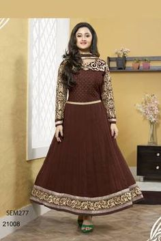 semi stitched anarkali suit discount on cream faux georgette anarkali