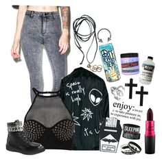 """""""Everybody's got their demons. Even wide awake or dreaming"""" by ariajane ❤ liked on Polyvore featuring BOY London, MYVL, Topshop, Demonia, Bling Jewelry, Rachel Leigh and Manic Panic NYC"""