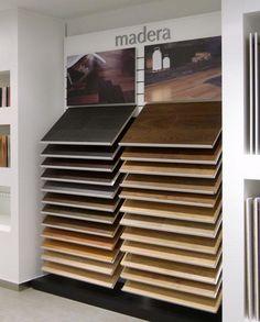 Porcelanosa Tile Showroom, Showroom Design, Flooring Store, Laminate Flooring, Retail Interior Design, Retail Fixtures, 3d Panels, Pop Up Shops, Wall Racks