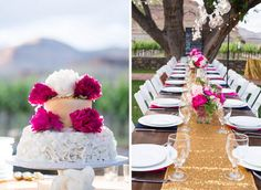 Outdoor reception at a vineyard  in Palisade, Colorado. Photography: @coweddingphotos, Styling: @and1367, Florals:@bandbdesignco via @coweddingsmag