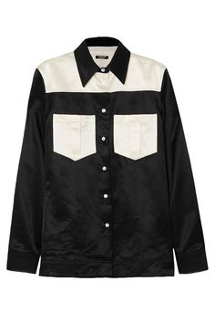 Shop on-sale Two-tone cotton-blend satin shirt. Browse other discount designer Long Sleeved Top & more luxury fashion pieces at THE OUTNET Fashion Outlet, Fashion Online, Calvin Klein, Satin Shirt, Shirt Sale, Top Designer Brands, Fitness Models, Long Sleeve Tops, Luxury Fashion