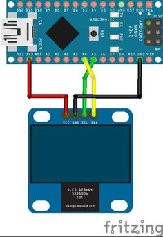 How to Interface Oled and Arduino (Part 5 Steps (with Pictures) Hobby Electronics, Electronics Projects, Electronics Components, Robotic Automation, Home Automation, Arduino Parts, Arduino Display, Gaming Computer Desk, Gaming Setup