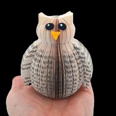Mini Book Owl ornament