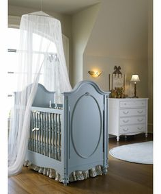 Crib blue - poss for dresser... Also like the simplicity of the white rug, although that would be hard to clean.... :)