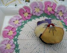 Knot Garden - this woman is very talented!  Plus, she makes beautiful objects with pansy designs! (My favorite flower!)