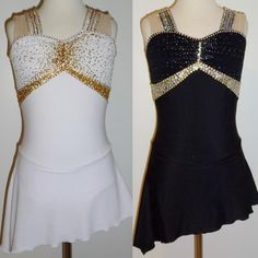 Asymmetrical Ice/Figure Skating Dress/Dance Costume/Tap Leotard Made to Fit