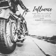 I love this quote! We all have a brand and we all influence other people. You have the ability to use your personal influence (personal brand) to make a better world for yourself and your community. Use whatever influence you have no matter how big or small it is to make a positive difference.  . . . . . #thebrandelixir #influenster #influencerswanted #motorcyclist Greater Good, You Are The World, Worlds Of Fun, Personal Branding, Other People, Community, My Love, Big, Quotes