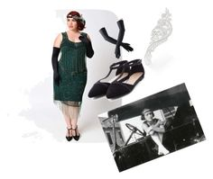 """""""Flapper Dress"""" by xxmrs-wolfxx on Polyvore featuring Black and vintage"""