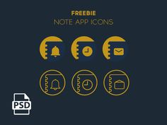 Note App Icons - Freebie by Mostafa adel