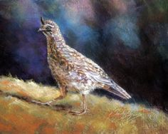 """""""Little Flapper"""" pastel painting by Sandy Byers, Pastel BIRD quail Animal Painting"""