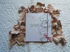 Partecipazione matrimonio rose taglio laser - Wedding roses laser cut invite