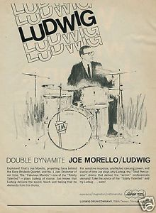 1966 Ludwig Drums Joe Morello Double Dynamite Original Ad