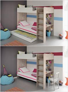 3 camas en espacio pequeño