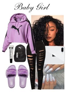 Say Goodbye-Chris Brown - Puma Backpack - Ideas of Puma Backpack - A fashion look from October 2017 featuring Puma backpacks. Browse and shop related looks. Baddie Outfits Casual, Cute Lazy Outfits, Swag Outfits For Girls, Cute Outfits For School, Teenage Girl Outfits, Cute Swag Outfits, Teen Fashion Outfits, Pretty Outfits, Stylish Outfits