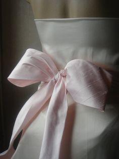 Agnes quality baby pink dupioni silk obi / sash belt   $55.00