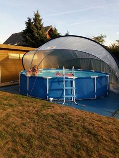 Gallery - The Swimming Pool Dome Above Ground Pool Landscaping, Backyard Pool Landscaping, Backyard Bar, Above Ground Swimming Pools, Backyard Playground, Swimming Pools Backyard, Pool Decks, In Ground Pools, Ideas De Piscina