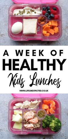 Kids School Lunch Ideas 747808713103293249 - A week of healthy kids lunchbox ideas! Send your kids to school with healthy, low sugar lunches. Including sandwich free lunchbox ideas, gluten free lunches, dairy free lunches and more! Source by happymomhacks Low Sugar Lunches, Low Sugar Snacks, Low Sugar Diet, Low Sugar Recipes, Sugar Free Kids Snacks, Low Sugar Meals, Kid Recipes, Free Recipes, Healthy Lunches For Kids