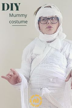 DIY Mummy Costume.  Get wrapped up this Halloween with an easy Halloween costume idea great for kids. #Halloweencostume #Mummy #DIY Diy Mummy Costume, Easy Halloween Costumes, Trunk Or Treat, Cute Diys, Diy Tutorial, Diy Ideas, Core, Diy Projects, Tutorials