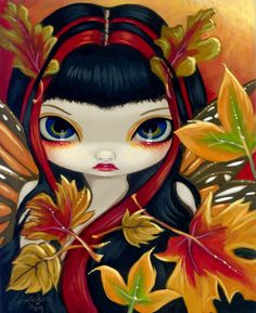 Little Autumn Leaves - Jasmine Becket-Griffith