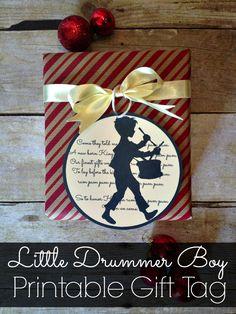 Printable Little Drummer Boy Gift Tags | www.inspirationformoms.com