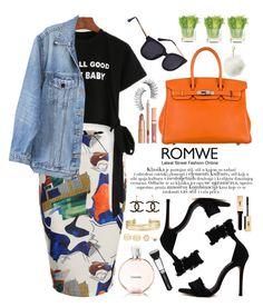 """Romwe"" by oshint ❤ liked on Polyvore featuring Y/Project, Hermès, Dolce Vita, Trish McEvoy, Chanel, LULUS, Stella & Dot, NDI, Charlotte Russe and awesome"