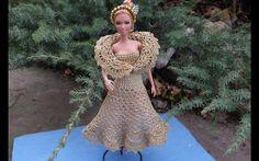 Платье. Свяжем платье кукле. Dress. Knit dress the doll. Knit Kleid der ...