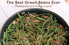 The Best Green Beans Ever {Gluten Free}