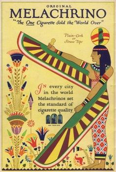 Advert For Melachrino Cigarettes, 1925 Poster Print By Mary Evans / Jazz Age Club Collection (18 X 24)