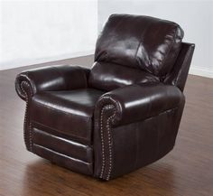 Colorado Burgandy Grain Leather Power Recliner