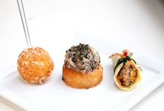 ... risotto canapes—pumpkin and Parmesan and truffled wild mushroom More