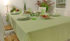 Vichy Karo Tischdekoration. Tafelfreude für ein köstliches Menü.