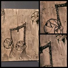 Music notes (2013) Coffee and black ink
