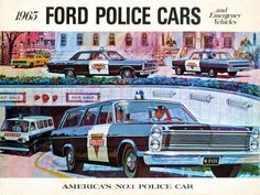 Ford Cop Cars… 1965 Brochure cover (just try outrunning that Econoline!)