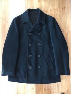 Helmut Lang Mens Vintage Pea Coat Black Size 48 It 38 US | eBay
