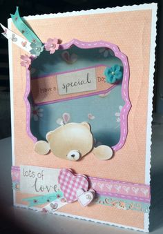 Aperture card featuring the Forever Friends bear.