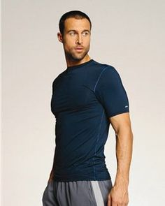 135881d0920 alo- Compression- Sport Blank T-Shirt- Poly-Spandex 90 10