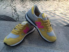 Men And Women New Balance 990 NB990 Shoes Made USA Nubuck M990 Yellow Gray Pink YLP|only US$75.00 - follow me to pick up couopons.