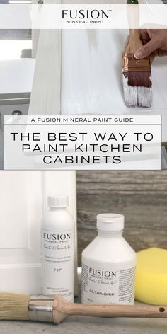The best way to paint your kitchen cabinets - step by step tutorial for how to p. The best way to paint your kitchen cabinets - step by step tutorial for how to paint your kitchen with Fusion Mineral Paint Diy Kitchen Cabinets, Painting Kitchen Cabinets, Kitchen Paint, Kitchen Flooring, New Kitchen, White Bathroom Cabinets, White Vanity Bathroom, Kitchen Island, Paint Furniture
