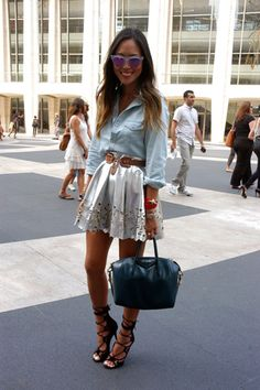 NY Fashion Week: Street style Día 2 estilo girly-grounch