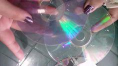 como dejar los cds transparentes para manualidades