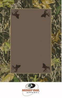 Milliken Mossy Oak Tm Camo Rugs Breakup 534712 Border W Deer Heads