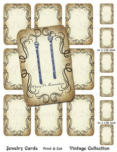 Earring Cards    Jewelry Display Cards   by TheHourglassStudio, $8.00