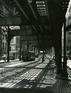 The Bowery Under the El, 1946. by TODD WEBB