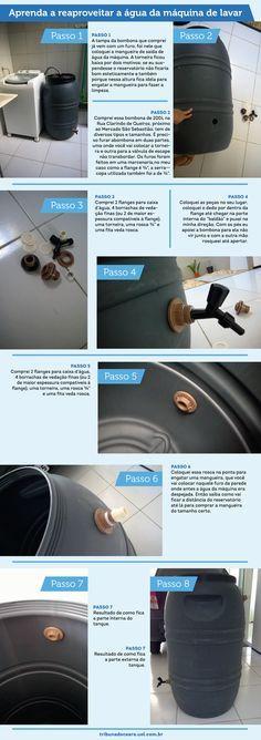 Cearense cria tanque para reaproveitar água da máquina de lavar e faz sucesso nas redes sociais