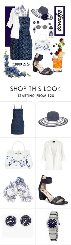 """Summer Date - I"" by mary-kay-de-jesus ❤ liked on Polyvore featuring Sun N' Sand, Longchamp, River Island, Black, White Mountain, Chico's, Bulgari and PENHALIGON'S"