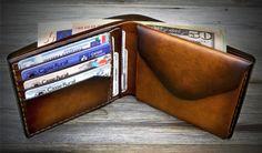Mens Wallet with Coin Pocket. Handmade Italian Leather von Odorizzi